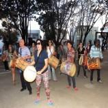 O som do tambor na Praça de Santa Tereza