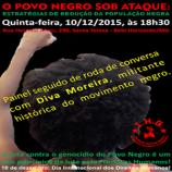 Palestra sobre genocídio do povo negro
