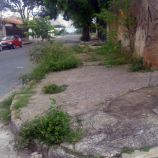 Obstáculo nas calçadas de Santa Tereza
