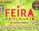 Feira de Artesanato de Santa Tereza no próximo domingo