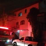 Incêndio em casa da Rua Barão de Saramenha