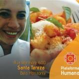 Almoço vegano no Plataforma Humano