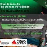 Oficinas de danças folclóricas gratuitas com o Aruanda