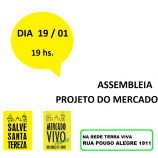 Mercado Distrital de Santa Tereza: assembleia
