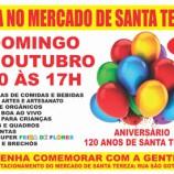 Feira para comemorar aniversário de Santa Tereza