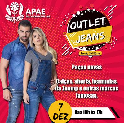 Outlet de  jeans na Apae