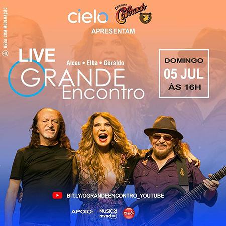 """Live """"O Grande Encontro"""" com Alceu, Elba e Geraldo"""