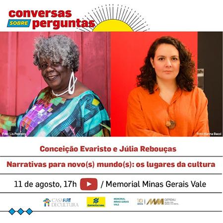"""Conceição Evaristo e Júlia Rebouças no """"Conversas sobre perguntas"""""""