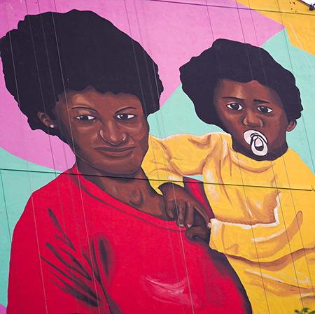 Artista paulista Robinho Santana assina a maior empena de arte do país