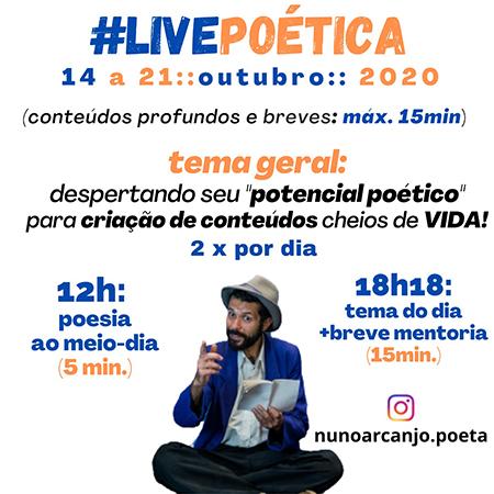 #Livepoética com Nuno Arcanjo