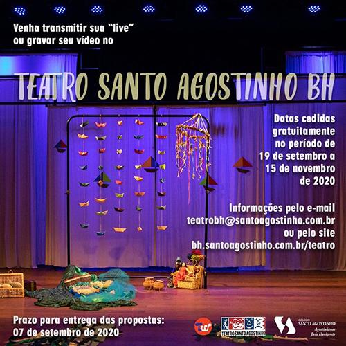 Programação das gravações de vídeos e lives Teatro Santo Agostinho