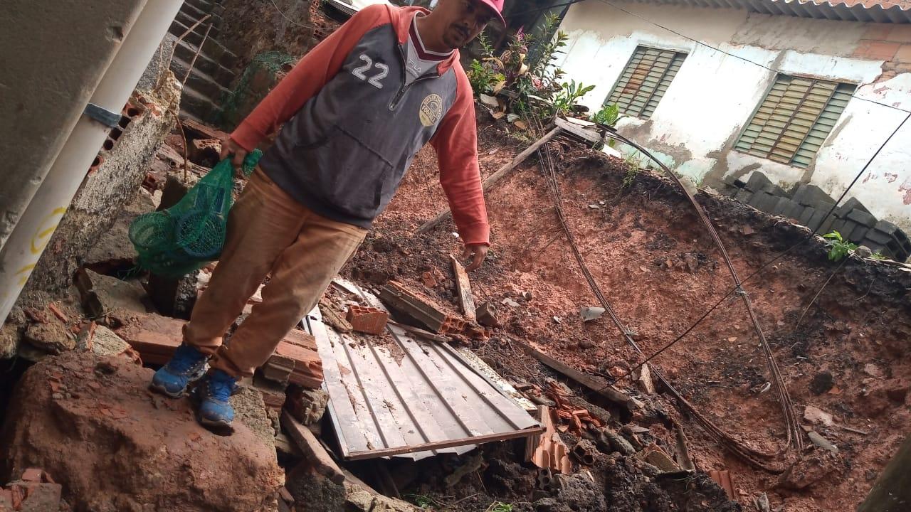 Desabamento na Vila São Vicente